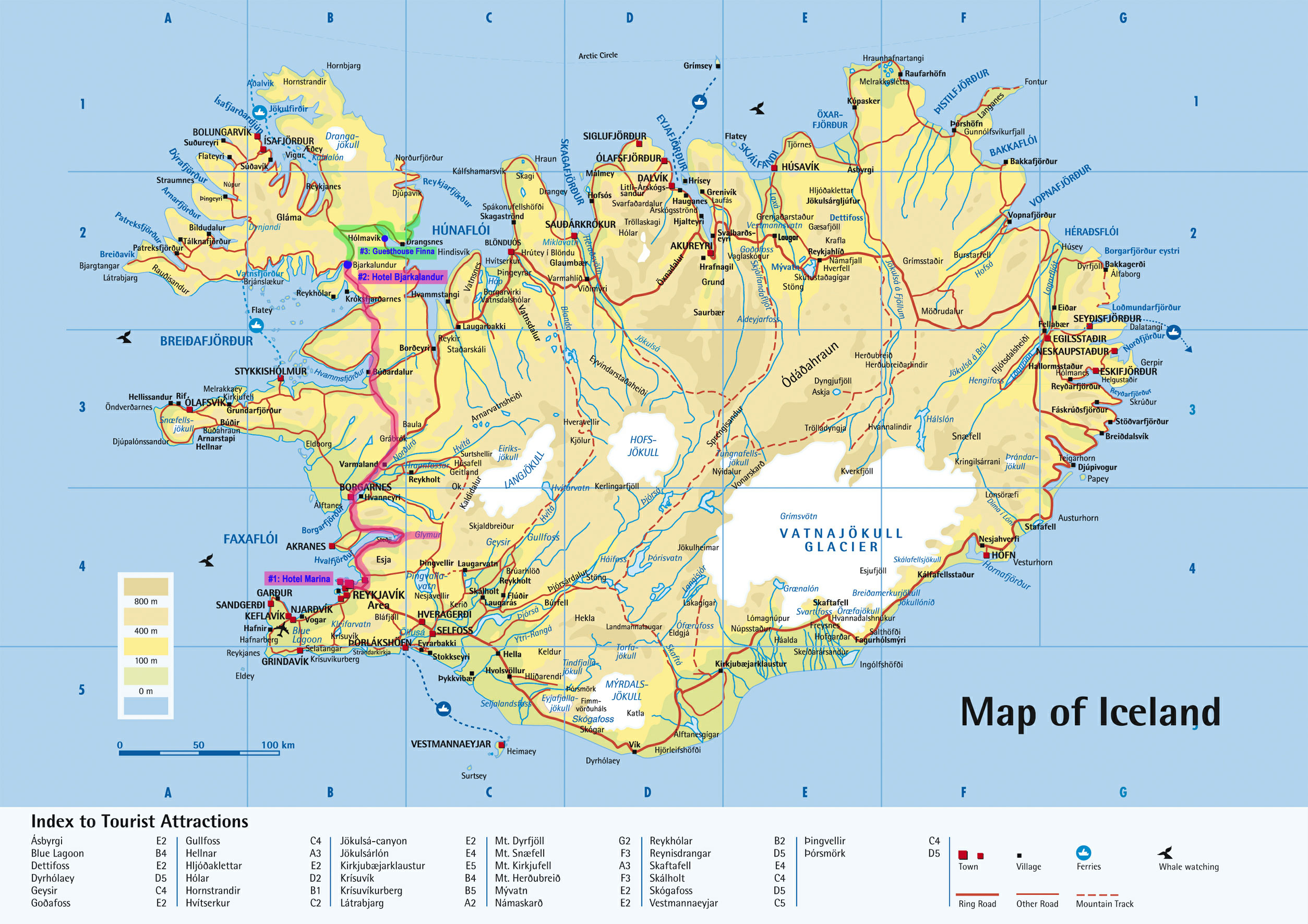 Bed And Breakfast Iceland Map