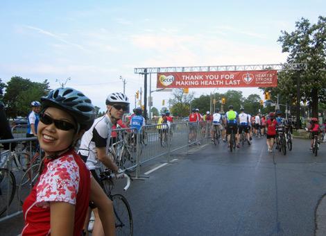 2013 Ride for Heart - start