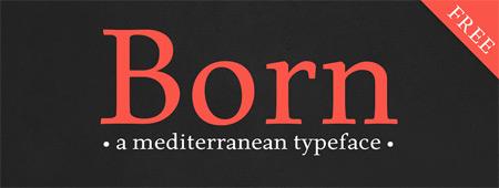 typeface-born