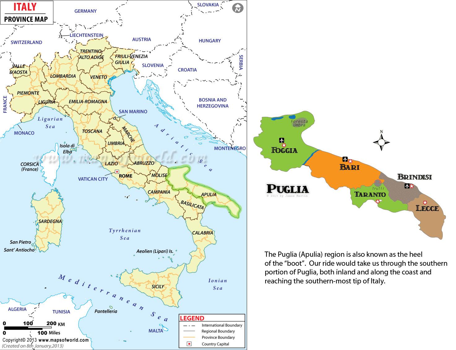 Puglia-map