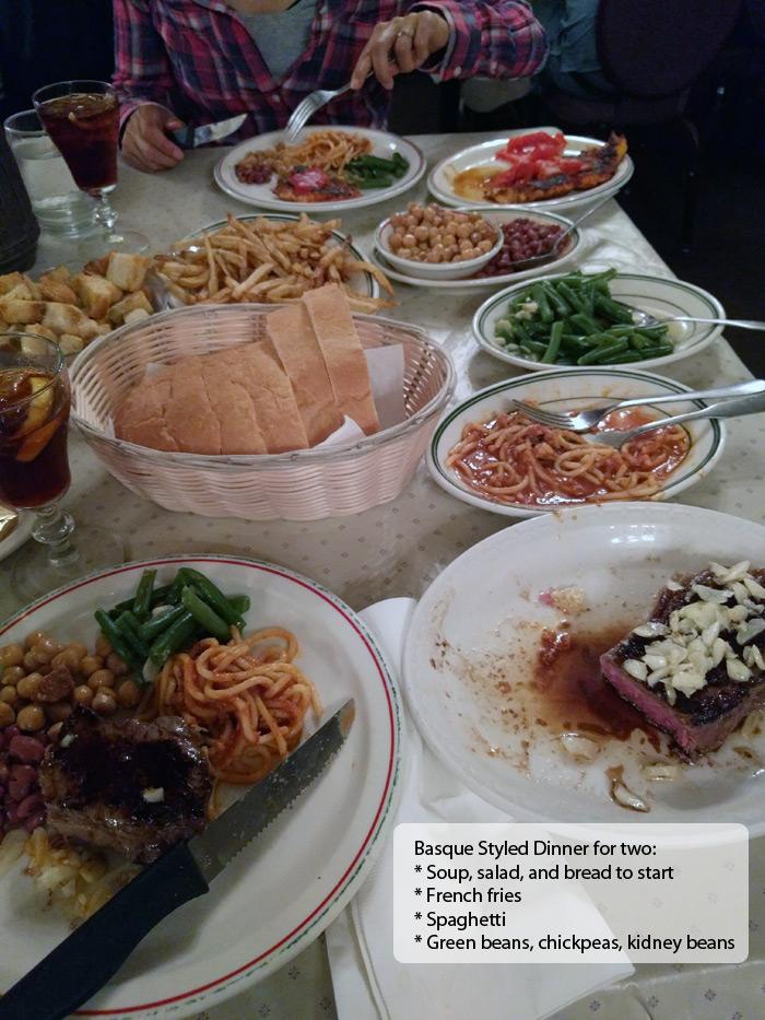 Star Hotel dinner in Elko