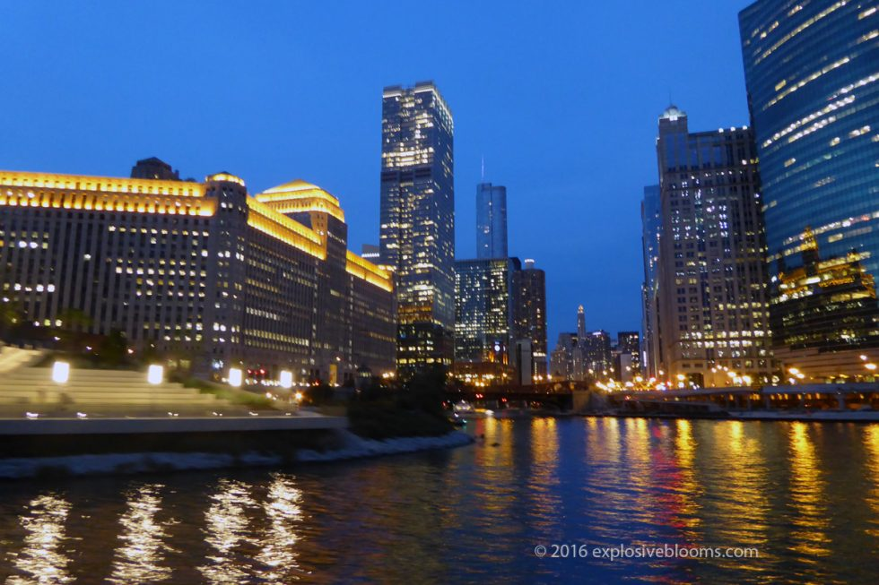 Chicago skyline by water